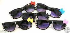 Hello Kitty Sunglasses Bow and Wiskers Black Frame Dark Gradient Lenses