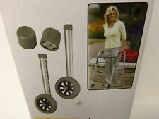 "MEDLINE WALKER WHEELS WITH GLIDE CAPS SIZE 3"" OR 5"" FOR INDOORS & OUTDOORS USE"