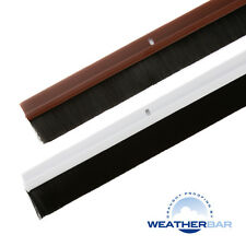 "Weatherbar PVC Brush Draught/Draft Excluder, 33/36"" Lengths & Various Finishes"