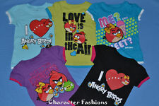 Girls ANGRY BIRDS Shirt Tee Top Size 4 5 6 6X 7 8 9 10 11 12 14 16 S M L XL