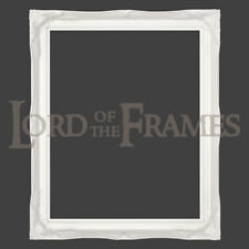 """2"""" White Shabby Chic Decorative Ornate Wood Swept Large Picture Frame 24x36"""""""
