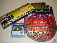O Ring Chain And Red Renthal Sprocket Kit CR CRF 125/250/450/500 R X Motocross