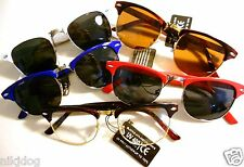 Clubmaster Browline Sunglasses Malcolm X Aviator Style Assorted Colors