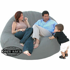 Bean Bag Chairs Factory Direct Cozy Sack Store Large 7' Foam Filled Comfort