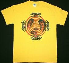 ANTHRAX STATE OF EUPHORIA'88 COVER MEGADETH METALLICA S.O.D. NEW YELLOW T-SHIRT