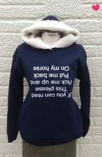 PRINTED hoodie NAVY (if you can read this please pick me up and put me up please