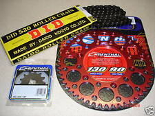 DID Chain And Red Renthal Sprocket Kit CR CRF 125/250/450/500 88-13 R X