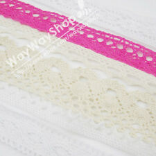 "5 Yards cotton crochet delicate lace trim sewing Edging 3/8 5/8 3/4 1/2 1 "" Inch"