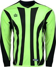 New Admiral BAYERN Adult Sm - XLrg PADDED Soccer GOALIE GOAL JERSEY Shirt Lime
