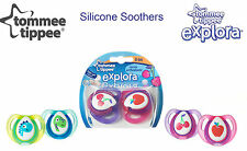 TOMMEE TIPPEE ORTHODONTIC SILICONE SOOTHER   GIRLS/BOYS   0-6 MONTHS  BPA FREE
