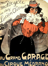 5872 Au grand Garage du cirque medrano POSTER. Interior design. Decoration Art