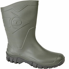 Ladies Mens Short Wellington Welly Ankle Half Length Gardening Boot Green New