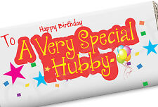 HUSBAND WIFE BIRTHDAY GIFT CHOCOLATE BAR HUBBY WIFEY VERY SPECIAL