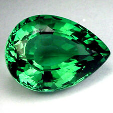 AAA Rated Pear Bright Emerald Green Cubic Zirconia (5x2.5mm-25x20mm)