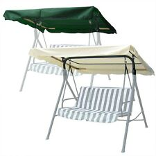 75 x 52 Outdoor Swing Canopy Top Replacement Cover Garden Patio Green Ivory Opt