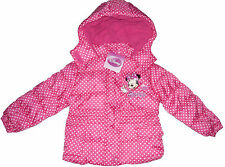 GIRLS WINTER COAT/JACKET DISNEY MINNIE MOUSE PINK 1 TO  8 YRS OLD BNWT
