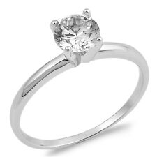 Sterling Silver Engagement Wedding Ring With Clear CZ - Sizes 4 5 6 7 8 9