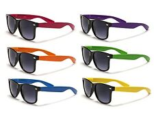 Classic Wayfarer Sunglasses - Black  Frame / Coloured Arms - 5 Diff Colours!