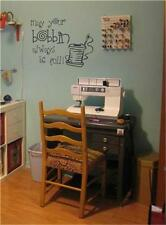 Sewing Room May Your Bobbin Always Be Full. Vinyl Wall Decal Sticker Home Decor