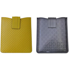 Gucci Leather Navy Blue & Yellow i Pad Case Cover Carry Bag