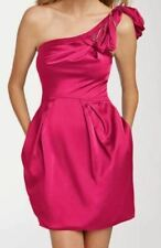 NWT Womens 6 12 BCBG MAX AZRIA Pink One Shoulder Short Cocktail Dress Homecoming