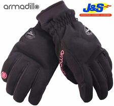 ARMADILLO LADIES MOTORCYCLE MOTORBIKE SCOOTER WATER PROOF WINTER GLOVES J&S