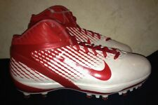NEW Mens 10.5 12 15 NIKE Air Zoom Alpha Talon White Red Football Cleats Shoes