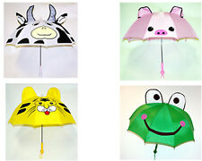 NEW CHILDRENS/KIDS/BOYS/GIRLS ANIMAL UMBRELLA WITH SOUND AND LIGHT