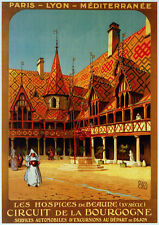 6062. Les Hospice de Beaure Circuit de la Bourgogne POSTER.  Wall Art Decorative