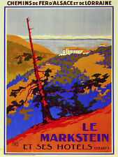 6094. Le Markstein et ses hotels travel POSTER. Wall Art Decorative.