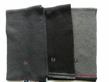 FRED PERRY Scarves Twin Tipped Wool Mix Black,Navy,Charcoal One Size