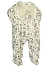 Boys Infant Baby Sleeper Safari Animal Print Footie w/Striped Bib by Little Me