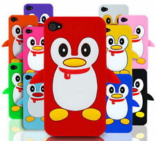 Penguin Silicone Skin Case Cover & Screen Protector FITS APPLE IPHONE 4 4S