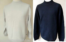 GAS JEANS Jumper Men's Crew Neck Knit Lambswool Navy & Stone Sizes: S & M