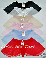 6 SEXY LACE MESH THONG PANTIES LSK2556 LOT NEW S/5 M/6 L/7 XL/8