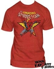 The Amazing Spider-Man Star Marvel Licensed Adult Fitted T shirt S-XXL