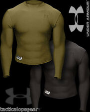 Under Armour Tactical ColdGear Compression Fit L/S Crew T Shirt OD Green 1216005