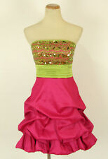 XOXO $80 Pink/Green Homecoming Evening Club Cocktail NWT-Avail Size 5,7,9