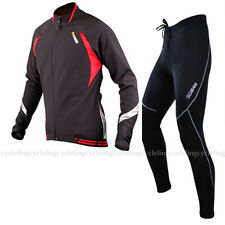 SOBIKE Cycling Suits Fleece Winter Jacket-Aurora & Fleece Tights-Cruise Black