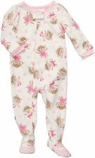 NEW Carter's 1 Piece Fleece PJs Happy Monkey Dancing NWT Size 6 7 year