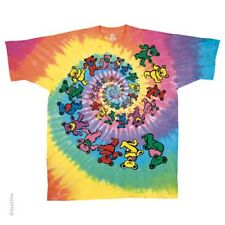 New GRATEFUL DEAD Spiral Bears Tie Dye T Shirt
