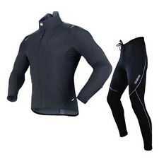 SOBIKE Cycling Suits Fleece Winter Jacket-Alien & Fleece Tights-Cruise Black