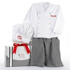 Baby Embroidered Chef Culinary Costume Clothes Layette Shower Gift Set 0-6 month