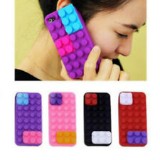 3D Brick Block Rubber Silicone Skin Soft Back Case Cover For iPhone 5 5S SE 5G