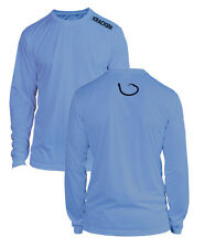 Microfiber Long Sleeve Fishing Shirt UPF 50 Columbia Blue Navy/Grey Graphic