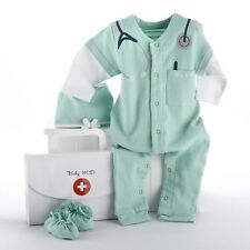 Baby Monogrammed M.D. Doctor's Bag Clothes Layette Shower Gift Set 0-6 months