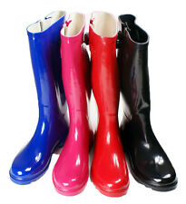 New Womens Rain Boots Size Wellies Flat Wellington Knee High Festival Welly Snow