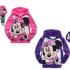 Toddlers Kids Girls Minnie Mouse Long Sleeve Hoodie Tops HD6067 Size 2-8 year