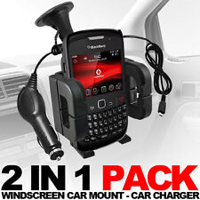 CAR HOLDER + CAR CHARGER FOR VARIOUS BLACKBERRY MODELS