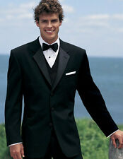Mens Traditional Black Chaps Ralph Lauren Barrington Tuxedo Prom Wedding 46L